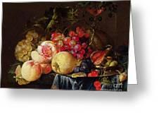 Still Life Greeting Card by Cornelis de Heem