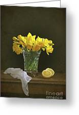 Still Life Daffodils Greeting Card