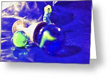 Still Life In Blue Greeting Card
