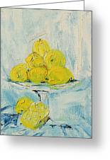 Still Life - Lemons Greeting Card