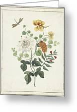 Still Life Of Flowers, Machtelt Moninckx, C. 1600 - C. 1687 Greeting Card
