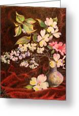 Still Life Of Stolen Flowers Greeting Card