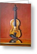 Still Life Of Violin Greeting Card