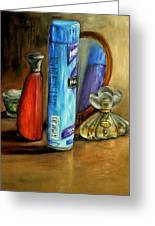 Still Life Oil Painting Greeting Card