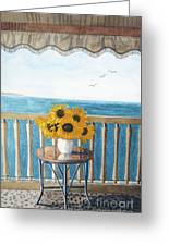 Still Life On A Patio Greeting Card