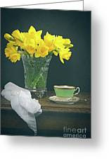 Still Life On Rustic Table Greeting Card