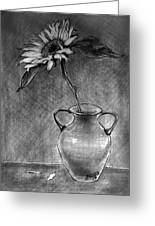Still Life - Vase With One Sunflower Greeting Card