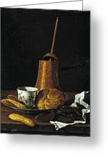 Still Life With A Chocolate Service Greeting Card