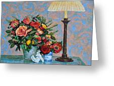 Still Life With A Lamp Greeting Card