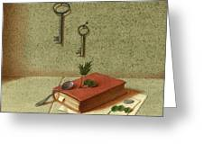 Still Life With A Small Book Greeting Card