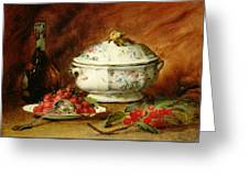 Still Life With A Soup Tureen Greeting Card