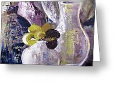 Still Life With A Yellow Flower Greeting Card