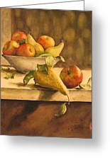 Still-life With Apples And Pears Greeting Card