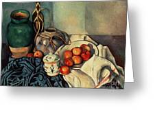 Still Life With Apples Greeting Card by Paul Cezanne