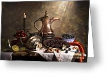 Still Life With Arabian Coffee Pot Greeting Card
