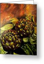 Still Life With Artichokes Greeting Card