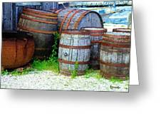 Still Life With Barrels Greeting Card