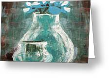Still Life With Blue Flowers Greeting Card