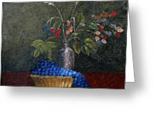 Still Life With Blue Fruit Greeting Card