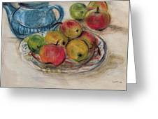 Still Life With Blue Teapot 2 Greeting Card
