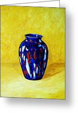 Still Life With Blue Vase Greeting Card