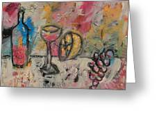 Still Life With Bottle Greeting Card