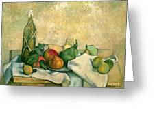 Still Life With Bottle Of Liqueur Greeting Card
