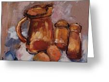 Still Life With Brown Pitcher Greeting Card