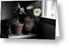 Still Life With Cactus Greeting Card