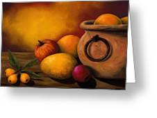 Still Life With Ceramic Pot Greeting Card