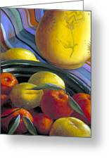Still Life With Citrus Greeting Card