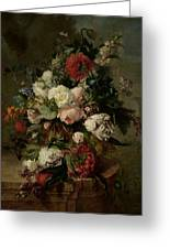 Still Life With Flowers, 1789 Greeting Card