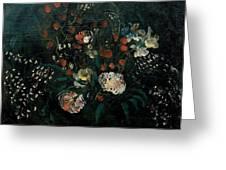 Still Life With Flowers Boris Grigoriev Greeting Card