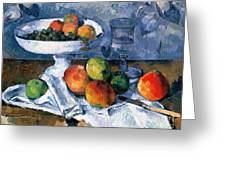 Still Life With Fruit Dish Greeting Card