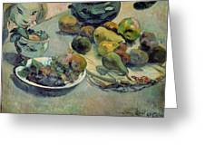 Still Life With Fruit Greeting Card by Paul Gauguin