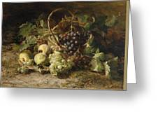 Still-life With Grapes And Pears Greeting Card