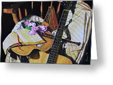Still Life With Guitar Greeting Card