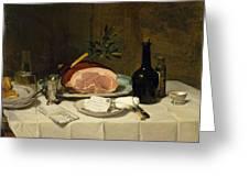 Still Life With Ham Greeting Card