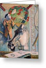 Still Life With Horse Head Greeting Card