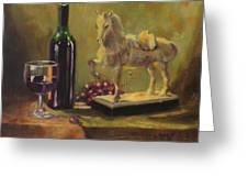 Still Life With Horse Greeting Card
