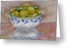Still Life With Lemons Greeting Card