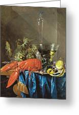 Still Life With Lobster 1655 Greeting Card