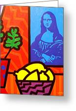 Still Life With Matisse And Mona Lisa Greeting Card