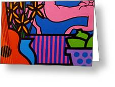 Still Life With Matisse  II Greeting Card