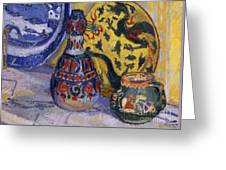 Still Life With Oriental Figures, 1913  Greeting Card