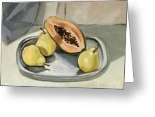 Still Life With Papaya Greeting Card
