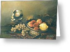 Still-life With Peaches Greeting Card by Tigran Ghulyan