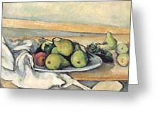 Still Life With Pears Greeting Card by Paul Cezanne