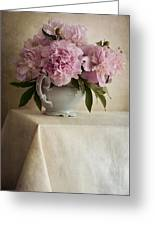 Still Life With Pink Peonies Greeting Card