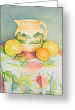 Still Life With Pitcher Greeting Card